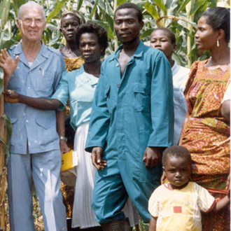 Norman Borlaug in Africa