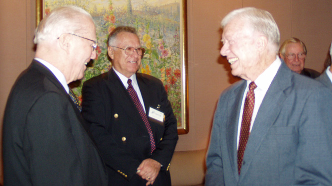 Norman Borlaug and Jimmy Carter